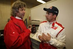 James Robinson avec Neel Jani, pilote A1 Equipe Suisse