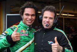 Adrian Zaugg, pilote A1 Equipe d'Afrique du Sud et Mike Carroll