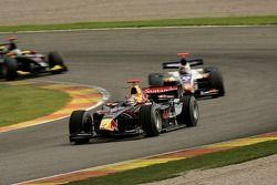 Bruno Senna leads Vitaly Petrov