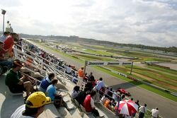 Fans watch the GP2 action