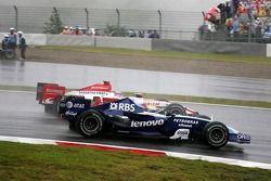 Nico Rosberg, WilliamsF1 Team, Takuma Sato, Super Aguri F1