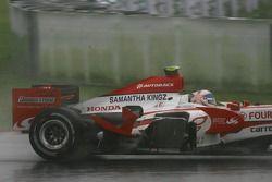 Anthony Davidson, Super Aguri F1 Team, SA07 damaged