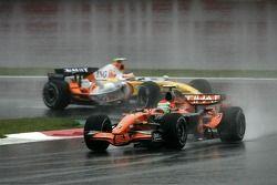 Sakon Yamamoto, Spyker F1 Team, Heikki Kovalainen, Renault F1 Team