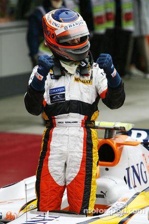 Heikki Kovalainen fête sa seconde place finale
