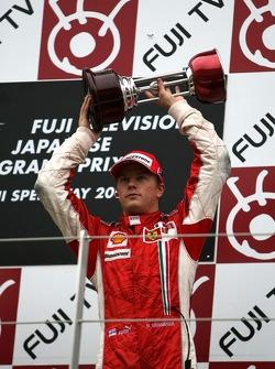 Podium: troisième place Kimi Raikkonen