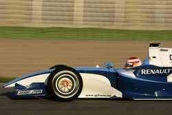 Adrian Campos, Campos Grand Prix team principal drives the GP2 Series development car