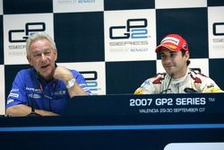 Timo Glock and Paul Jackson in the GP2 Press conference