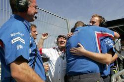 The iSport team celebrate Timo Glock winning the 2007 GP2 Series title