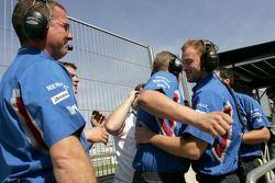 The iSport team celebrates winning the 2007 GP2 Championship