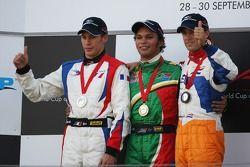 2ème place Loic Duval, pilote A1 Equipe de France, 1ère place Adrian Zaugg, pilote A1 Equipe d'Afriq