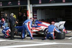 Buddy Rice, pilote A1 Equipe des Etats Unis pit stop