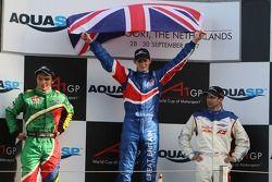 Adrian Zaugg, pilote A1 Equipe d'Afrique du Sud, Oliver Jarvis, pilote A1 Equipe de Grande Bretagne et Neel Jani, pilote A1 Equipe de Suisse