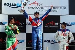 Podium, Adrian Zaugg, pilote A1 Equipe d'Afrique du Sud, Oliver Jarvis, pilote A1 Equipe de Grande B