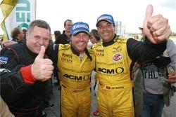 Race winners Jean-Denis Deletraz and Mike Hezemans celebrate