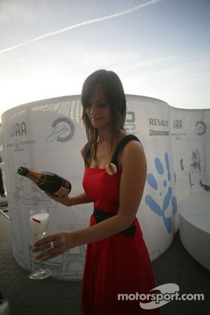Mumm champagne is served to guests