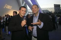 Paulo Coloni FMS International Team Principal with Bruno Michel, GP2 Series Organiser