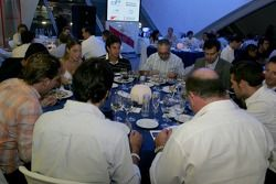 Guests enjoy their meal