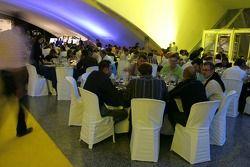 Guests enjoy dinner