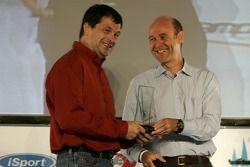 David Garrett reçoit son prix du Truckie de l'année