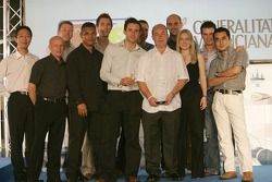 The Bridgestone team celebrate their award, Best Team Spirit
