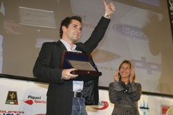 2007 GP2 Series champion, Timo Glock collects his award