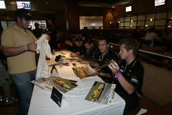 Petit Preview Party at Atlantic Station: Dirk Muller, Peter Dumbreck, Lucas Luhr, Sascha Maassen and Patrick Long sign autographs for the fans