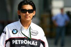 Ho-Pin Tung, BMW-Sauber F1 Team, Pit Lane Park