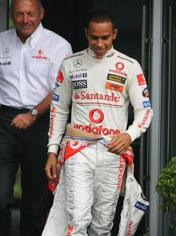 Ron Dennis, teambaas McLaren met Lewis Hamilton