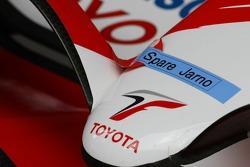 Jarno Trulli, Toyota Racing, spare nose