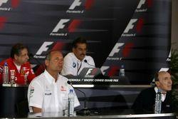 top left to bottom right, Jean Todt, Scuderia Ferrari, Ferrari CEO, Dr. Mario Theissen, BMW Sauber F