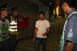 Mark Webber, Red Bull Racing after meeting ve stewards