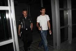 Mark Webber, Red Bull Racing before his meeting ve stewards