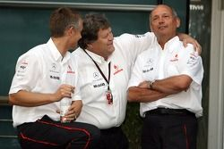 l-r, Martin Whitmarsh, McLaren, Chief Executive Officer, Norbert Haug, Mercedes, Motorsport chief an