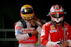 Lewis Hamilton, McLaren Mercedes ve Kimi Raikkonen, Scuderia Ferrari