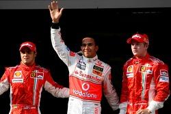Pole: 3.Lewis Hamilton, McLaren Mercedes, MP4-22, 2. Kimi Raikkonen, Scuderia Ferrari, F2007, 3. Fel