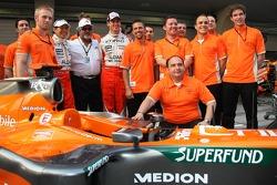 Sakon Yamamoto, Spyker F1 Team, Dr Vijay Mallya, Kingfisher ve Colin Kolles, Spyker F1 Team, Takım P