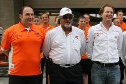 Spyker F1 Team and Colin Kolles, Dr Vijay Mallya, Kingfisher, Michiel Mol, Spyker