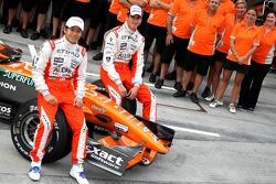 Sakon Yamamoto, Spyker F1 Team and Adrian Sutil, Spyker F1 Team