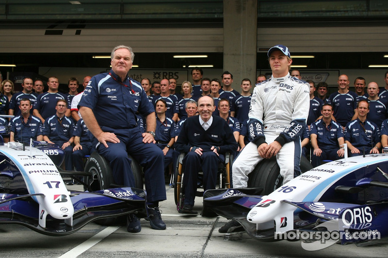 Williams F1 Team, Foto del equipo, Patrick Head, WilliamsF1 Team, Director de ingeniería, equipo Wil