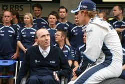 Sir Frank Williams, Williams F1 Team, dueño del equipo, y Nico Rosberg, WilliamsF1