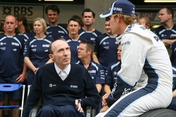 Sir Frank Williams, Williams F1 Team, dueño del equipo, y Nico Rosberg, WilliamsF1