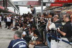 Fotógrafos toman la foto de Williams F1 Team