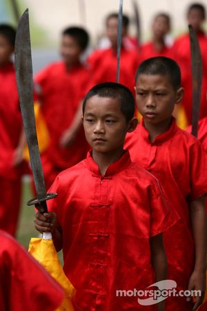 A Chinese Child with a sword