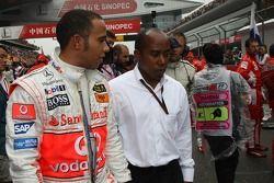 Lewis Hamilton, McLaren Mercedes with his father Anthony Hamilton, Father of Lewis Hamilton