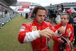 Felipe Massa, Scuderia Ferrari and Jean Todt, Scuderia Ferrari, Ferrari CEO on the grid