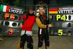 Sebastian Vettel, Scuderia Toro Rosso and Vitantonio Liuzzi, Scuderia Toro Rosso finished 4th and 6t