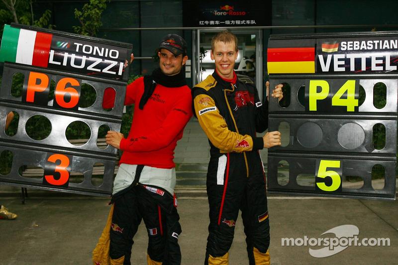 Un jovencísimo Sebastian Vettel, que había debutado puntuando con BMW en Estados Unidos, fue su sustituto para las siete últimas carreras. En China quedó cuarto y su compañero Liuzzi sexto, un genial resultado para el equipo.
