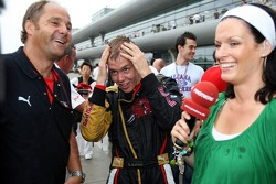 Gerhard Berger, Scuderia Toro Rosso, 50% Team Co Owner, Sebastian Vettel, Scuderia Toro Rosso and Tanja Bauer