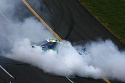 Jeff Gordon fête sa victoire par un burnout