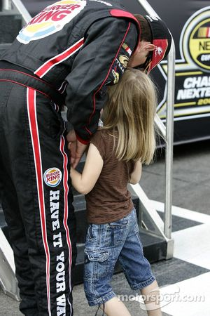 David Reutimann shares a moment with daughter Emilia